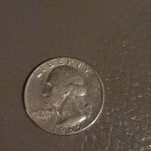 1965 error quarter no mint